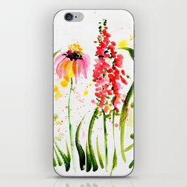 flower field iPhone Skin