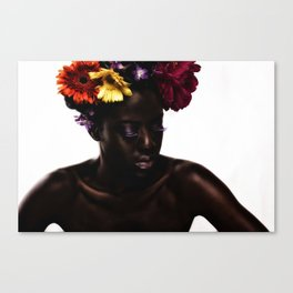Floral Afro Canvas Print