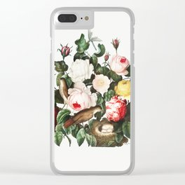 Roses Illustration by Robert John Thornton. Clear iPhone Case