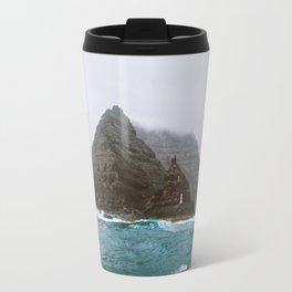 Island between Lanzarote and Isla Graciosa, Spain. Travel Mug