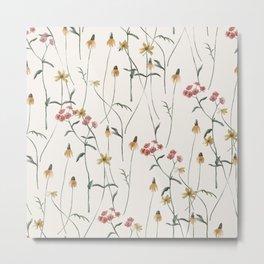 Meadow Wildflowers Metal Print