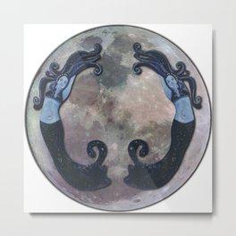 The Moon posture. Metal Print