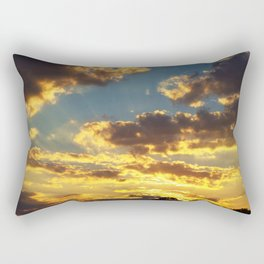 Yellow Sunset Rectangular Pillow