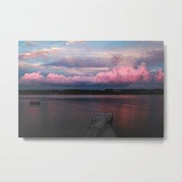 Pink Sunset at the Lake Metal Print