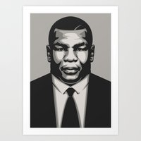 mike tyson Art Prints featuring TYSON by UCArts