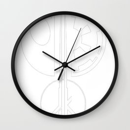 Galactic Emblems Minimalist T-Shirt Wall Clock