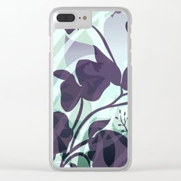 Sassy Sedge - cool colors Clear iPhone Case