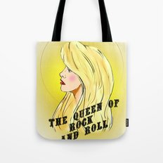 The Queen of Rock and Roll Tote Bag