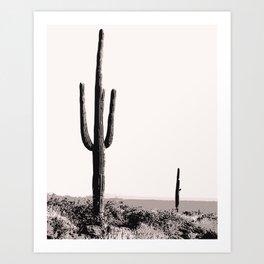 Wild wild west cactus wall art Art Print