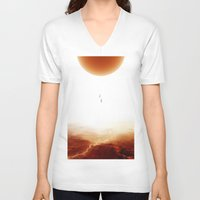 bruno mars V-neck T-shirts featuring Mars Diving by Stoian Hitrov - Sto