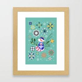 Happy Raccoon Card Framed Art Print