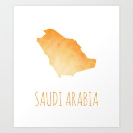 Saudi Arabia Art Print