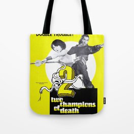 Vintage Film Poster- Two Champions of Death (1980) Tote Bag