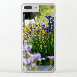 Georgeson Botanical Gardens, Fairbanks Alaska, Iris and Lilies Clear iPhone Case