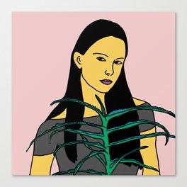 Girl with aloe Canvas Print