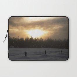 Foggy Sunset Laptop Sleeve