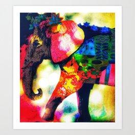Modern African Elephant Pop Art Contemporary Art Print