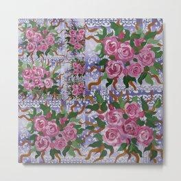 purple and roses Metal Print
