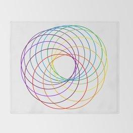 Spiranbow Graph Throw Blanket