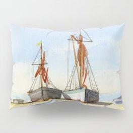 Boats Stranded on the Coast Pillow Sham