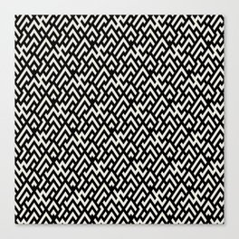 Abstract geometric pattern with maze Canvas Print