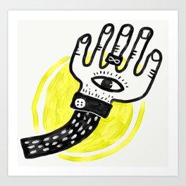 The Lucky Hand Art Print