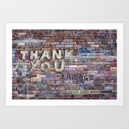 Thank you | Noriko Aizawa Buckles Art Print