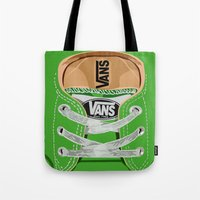 vans Tote Bags featuring Cute Green Vans all star baby shoes apple iPhone 4 4s 5 5s 5c, ipod, ipad, pillow case and tshirt by Three Second