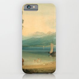 "J.M.W. Turner ""Lake Geneva and Mount Blanc"" iPhone Case"