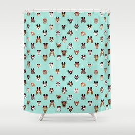 dog gifts theme park vacation dog heads Shower Curtain
