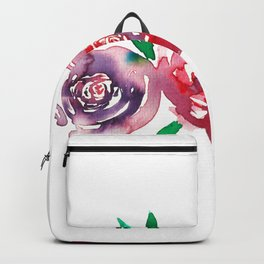 Three Red Christchurch Roses Backpack