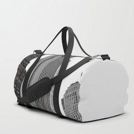 Grey Glass Buildings Duffle Bag