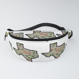 Texas White Background Fanny Pack