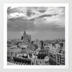 Skyline - MADRID  Art Print