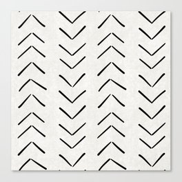 Mud Cloth Big Arrows in Cream Canvas Print