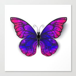 Tricolored Butterfly Canvas Print