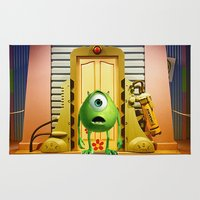 monster inc Area & Throw Rugs featuring  Monster Inc Mike Wazowski by Thorin