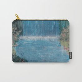 Waterfall with Spring Flowers - Spray Paint Art Carry-All Pouch