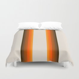 Retro Golden Rainbow - Straight Duvet Cover