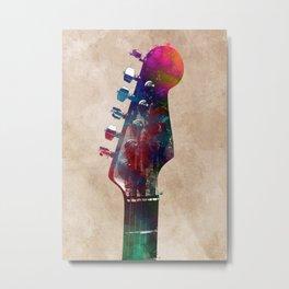 Guitar art 1 #guitar #music Metal Print