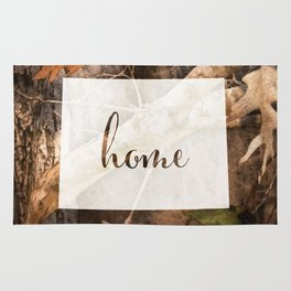 Wyoming is Home - Camo Rug