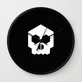 hex geometric halloween skull Wall Clock