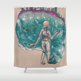 I Want A Hundred Days of Bright Lights Shower Curtain