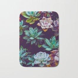 Colorful Succulent Cactus Plants Garden Bath Mat