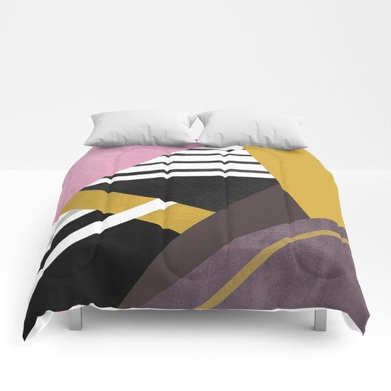 Geometric Combination  Comforters