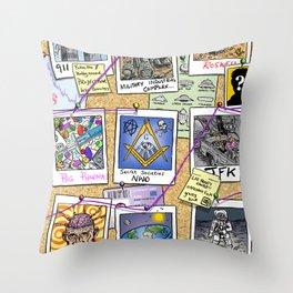 Conspiracy Theorist Throw Pillow