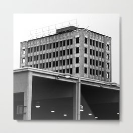 Unfinished Building Metal Print