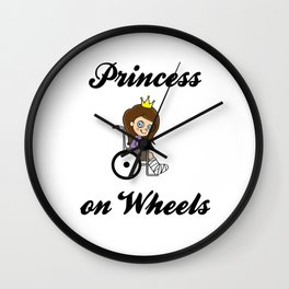 Princess on wheels Wheelchair Daughter funny gift Wall Clock