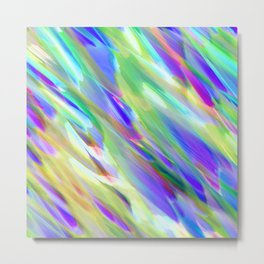 Colorful digital art splashing G401 Metal Print