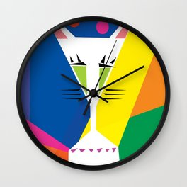 Cocktail Cat Wall Clock